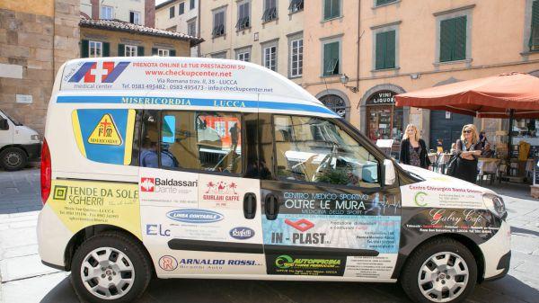 Consegna Fiat Doblò Associazione Misericordia di Lucca