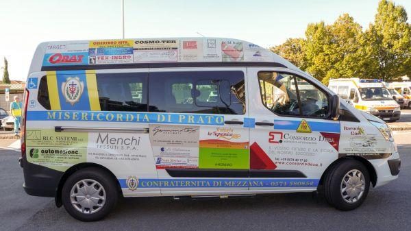 Consegna Ford Custom Associazione Misericordia Mezzana