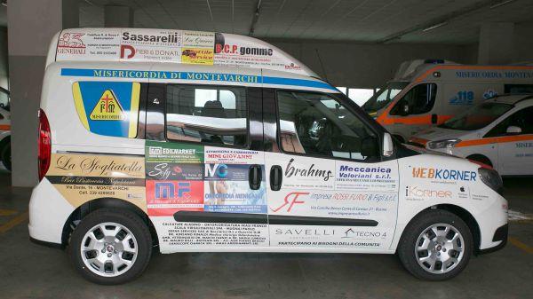 Consegna Fiat Doblò Ass. Misericordia Montevarchi