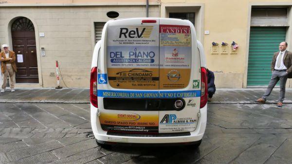 Consegna Fiat Doblò Misericordia San Giovanni Valdarno